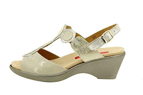 Scarpe donna comfort pelle Piesanto 8857 sandali soletta estraibile comfort larghezza speciale