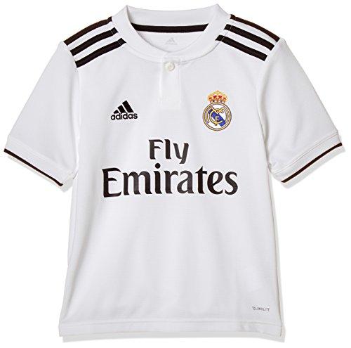 adidas Kinder 18/19 Real Madrid Home Trikot, core White/Black, 164