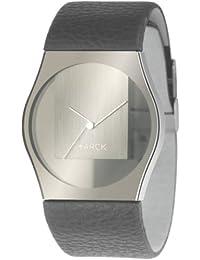 Philippe Starck PH6003 - Reloj unisex, correa de cuero color negro