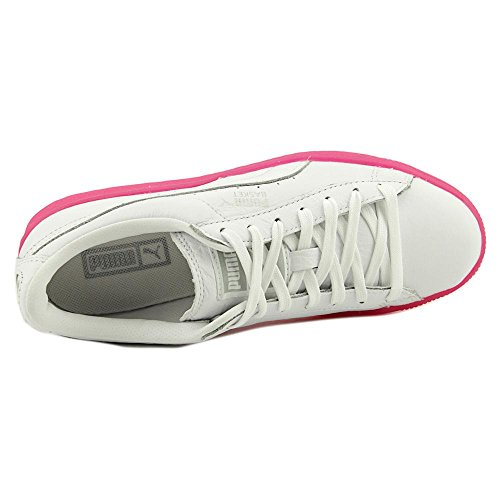 Puma Basket Classic Mono lce Ref Jr Cuir Baskets White-Pink Glo