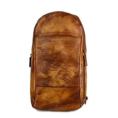 Mens waist leather shoulder bag hobo bag travel back sling satchel brown backpack leather backpack leather sling washed leather - handmade-bags