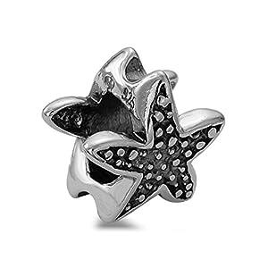 Hochwertiger Seestern Element Beads 925 Sterling Silber Bead für Armbänder #1763