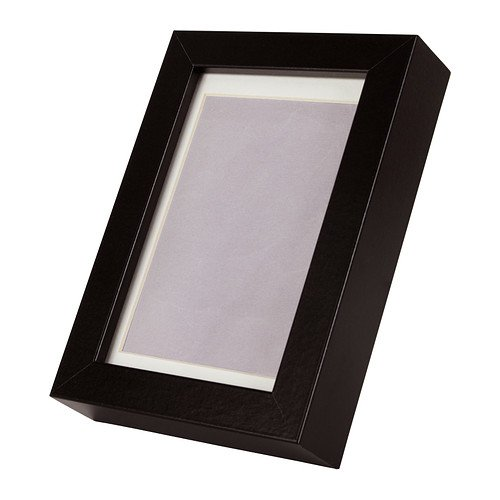 Rahmen RIBBA, 10 x 15 cm, schwarz, Passepartout verbessert das Bild und macht einfach Streifennagler