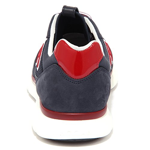 4198Q sneaker uomo HOGAN NEW SNEAKER H FLOCK blu/bordeaux blue shoe men blu/bordeaux