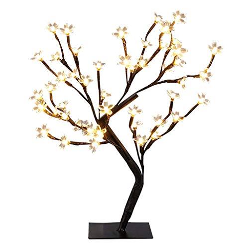 Eliky Cherry Blossom Desktop Bonsai Tree Light, Dekoratives Warmweißes Licht Für Die Home Festival Party (Desktop-bonsai Licht)