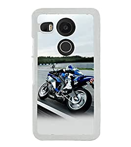 Fiobs Designer Back Case Cover for LG Nexus 5X :: LG Google Nexus 5X New (Bike Motorcycle Cool Vehicle Swag Boy )