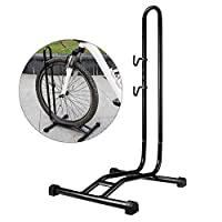 dx*nice Bicycle Floor Stand,Folding Bike Display Rack Mountain Mini Parking Garage Repair Steel Holder,for Mountain Road Kids Hybrid Bikes