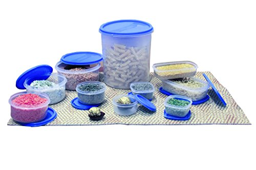 Princeware SF Package Container Set, 10-Pieces, Blue