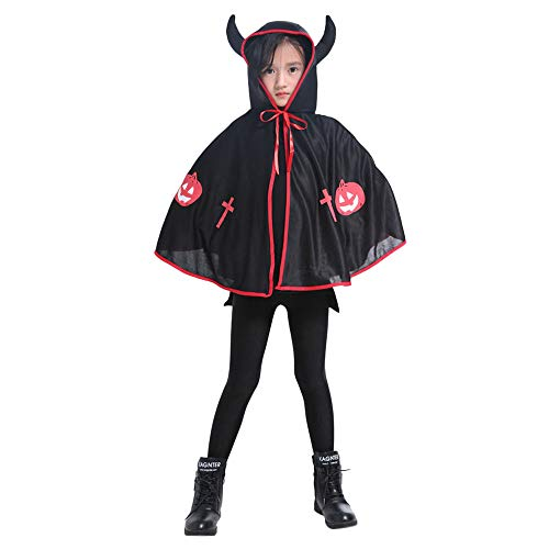 (SEWORLD Baby Halloween Kleidung,Niedlich Kinder Erwachsene Kinder Halloween Baby Kostüm Ochsenhorn Umhang Cape Robe Freie Größe)