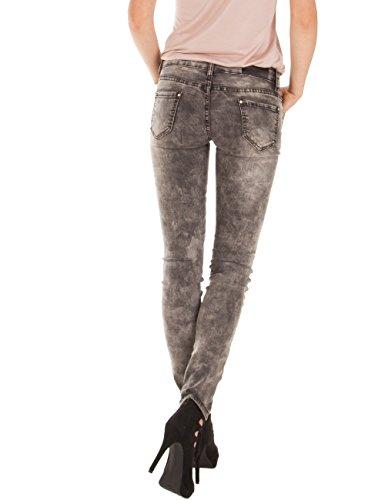 Fraternel pantalon jeans femme skinny délavé Gris