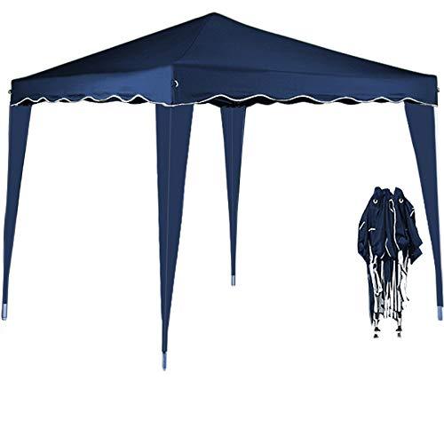 Deuba® Pavillon Capri 3x3m | wasserdicht | Pop-Up | inkl. Tasche | UV-Schutz 50+ | Faltpavillon Gartenzelt Partyzelt | blau | Farbauswahl
