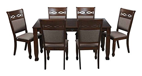 32 Royal Oak Iris Six Seater Dining Set Walnut
