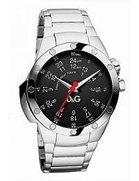 D&G Dolce&Gabbana d&g jack - Reloj analógico de caballero de cuarzo con correa de acero inoxidable plateada - sumergible a 30 metros