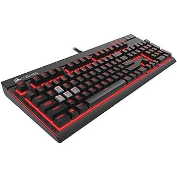 Corsair Strafe Tastiera Meccanica Gaming, Cherry MX Red, Retroilluminato Rosso, Italiano QWERTY, Nero