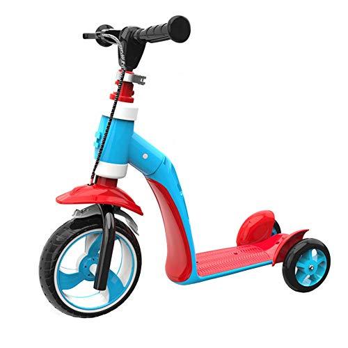MOM Outdoor Sports Scooter Kick, Kick Scooter Ideal für Kinder, Kleinkinder, Mädchen oder Jungen, Höhenverstellbar mit extra breitem Deck für Kinder von 1 bis 6 Jahren, Kinderspielzeug, Balance Car M