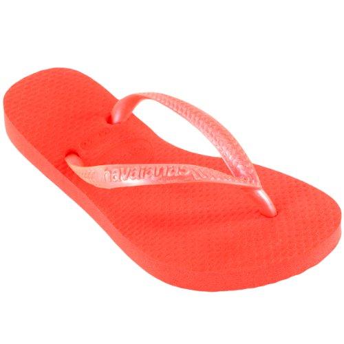 Unisex Enfants Havaianas Slim Eté Tongs Plage Sandale Tailles Guava Rouge