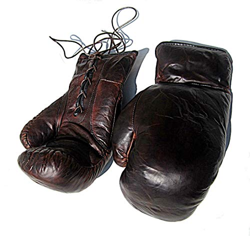 Boxhandschuhe aus Leder im Retro Style NEU - Vintage Boxhandschuhe Leder