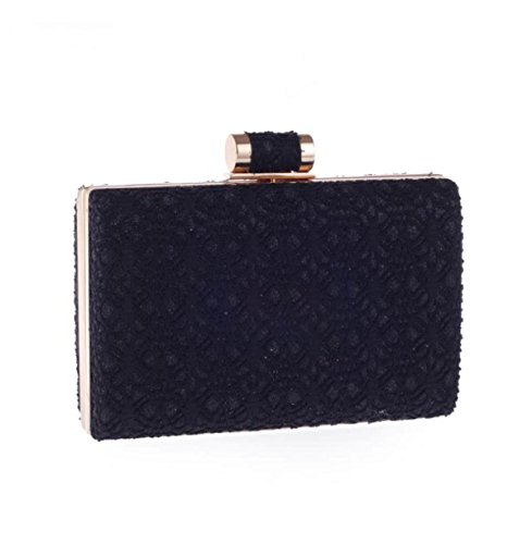 Trendy Lace Party Party Beiläufige Tasche Black