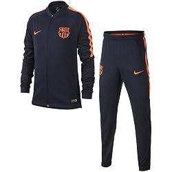 Nike FCB y NK Dry Sqd TRK K, Traje de fútbol Unisex Niños, Obsidian/Obsidian/Hyper Crimson, XS