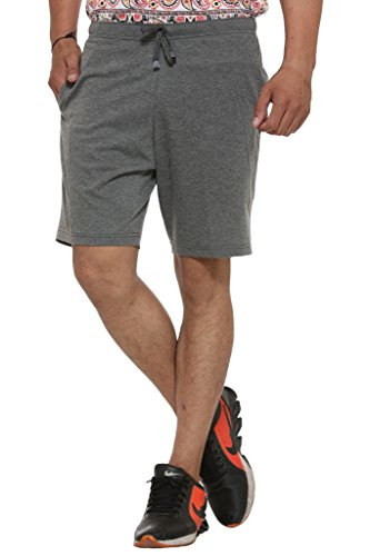 VIMAL Men's Cotton Blended Shorts, Medium(Grey, D11-ANTHRA-M)
