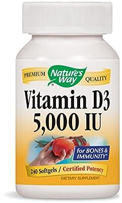 Nature's Way, Vitamin D3, 5000 IU, 240 Softgels by Natures Way