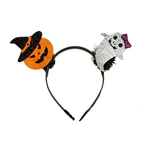 Quaan Halloween Stirnband Kürbis Kopfbedeckungen Stirnband Haar Zubehörteil -
