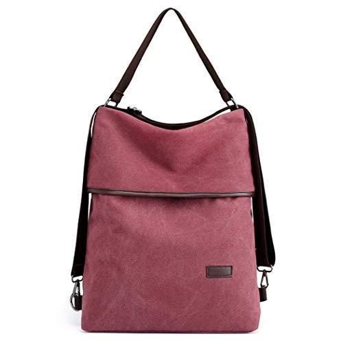 Damen Schultertasche, COOFIT Canvas Tasche Damen Handtasche Vintage Rucksack Umhängentasche Anti Diebstahl Tasche für Alltag Büro Schule Ausflug Einkauf