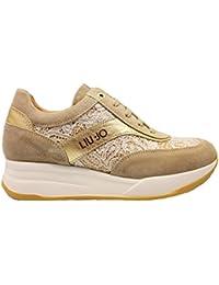 LIU-JO GIRL L4A4 00346 Jeans e Ivory Sneakers Scarpe Donna Calzature Comode e9dce1fe46d