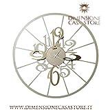 ARTI E MESTIERI Reloj de pared Big kalesy Arena/bronce de metal, manecillas horas y minutos de metal