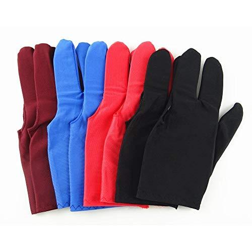 HUI JIN Snookerqueue-Handschuhe, 3 Finger, 8 Stück