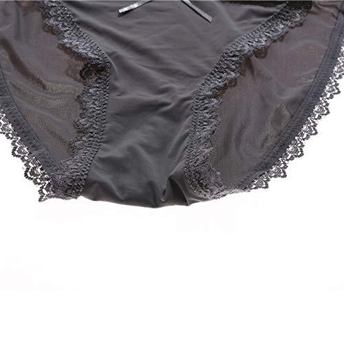 Haodou String mit Spitze Damen Unterhose Polyester Unterwäsche Reizvolle Wäsche durchsichtige Tanga G-Schnur Schlüpfer Damenwäsche Dessous (Dunkelblau-L) - 6