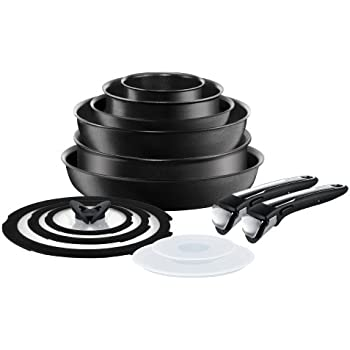 tefal ingenio non stick induction cookware set 13 pieces black kitchen home. Black Bedroom Furniture Sets. Home Design Ideas