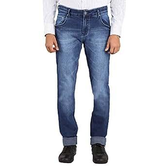 FLAGS Men's Jeans Whisker Spray Streatch Slimfit Dark Blue (25072) Size 30