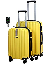 abcde330f 3G ABS Blue Combat Series Hard Sided Trolley Trael Bags (20 and 24-inch