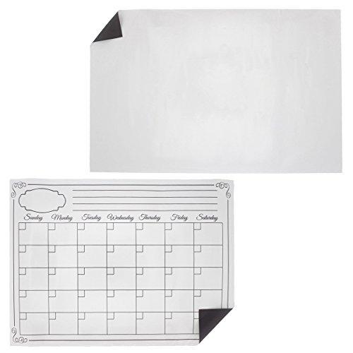 Magnetische trocken abwischbare Kalender-2-teiliges Set-magnetische trocken abwischbare Monatskalender Planer Whiteboard & blanko Magnetisches Whiteboard-43,2x 27,9cm und 41,3x 30,5cm (Dry Erase-kalender Aufkleber)