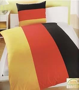 schlafwohl microfaser bettw sche motiv deutschland schwarz rot gold 1 x kissenbezug 80 x 80. Black Bedroom Furniture Sets. Home Design Ideas