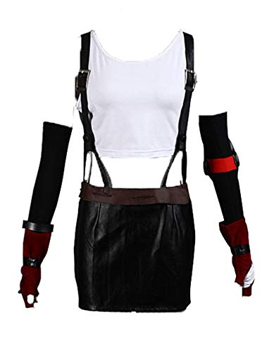 Chong Seng CHIUS Cosplay Costume Outfit for Tifa Lockhart Leatherette Version (Tifa Lockhart Cosplay Kostüm)