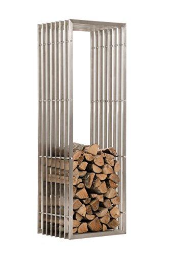 Mendler Kaminholzständer CP566, Feuerholzregal ~ 150cm, Edelstahl