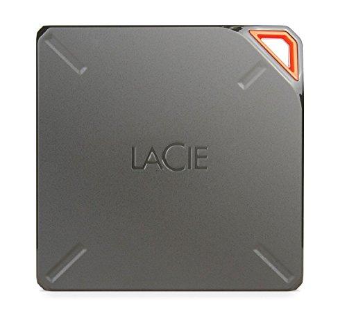LaCIE Fuel 1 TB, externe tragbare Festplatte mit WLAN und Akku, für Mac, iPAd, iPhone, USB 3.0. - STFL1000200