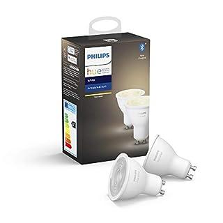 Philips Hue Ampoules LED Connectées White GU10 Compatible Bluetooth, Fonctionne avec Alexa Pack de 2 (B07SQ1CHZZ)   Amazon price tracker / tracking, Amazon price history charts, Amazon price watches, Amazon price drop alerts
