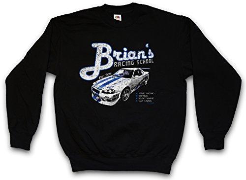 Brian`S Racing School Sweatshirt Pullover Sweater – Paul 2013 Street Racing Walker Nissan Drifting Skyline Sizes S – 3XL