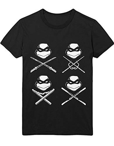 T-Shirt Turtles C000014 Schwarz XL (Ninja Ratte Turtles Aus)