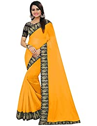 High Glitz Fashion Women's Yellow Color Chanderi Cotton Kalamkari Printed Saree With Blouse Piece