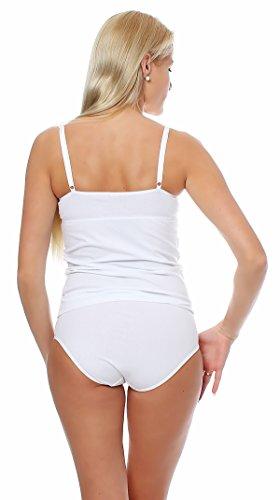 Damen BH-Hemd von Lady, Unterhemd mit verstellbaren Trägern, Größe 38 bis 48 in Weiss Weiß