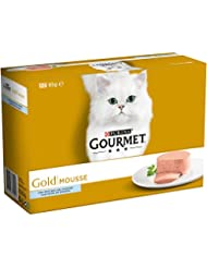 Purina Gourmet Gold Mousse Pack Pescado del Océano  12x85g