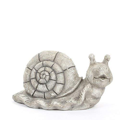 E+N Schnecke grau L:39cm BxH:20x22cm, Keramik, witterungsbeständig