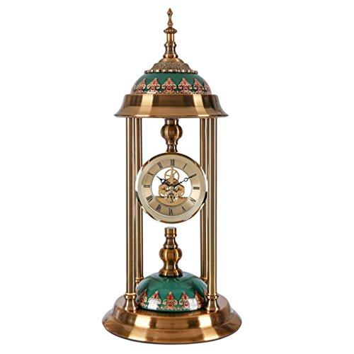 JTWJ Retro- kreatives antikes Kupfer der Retro- Metalluhrtaktgeberwohnzimmer-großen Uhruhr mechanische mechanische Quarzuhr