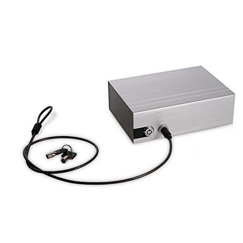 Auto schließfach Professional Autosafe Stahlkassette mit 2 Schlüssel universell einsetzbar Geldkasette Stahlsafe Box für Auto 24*18*9.5 cm- Ideal für Pässe, Bargeld, Kreditkarten oder Schmuck (Silber) - Schwere Pistole Fall