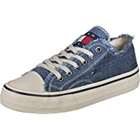 Tommy Hilfiger Lowcut Tommy Jeans Men's Sneakers, Blue (Denim 404), 10 UK (44 EU)