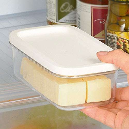 Butterdose Butterdose mit Bambusdeckel, Butterbehälter-Behälter, der mit Deckel-Rechteck-Nahrungsmittelspeicher-Butterkasten-Wächter-Haus versiegelt